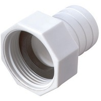 "STRAIGHT HOSE TO BARB CONNECTOR-1-1/8"", White"