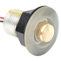 LED LIVEWELL & BULKHEAD LIGHT-Amber Lens for Soft Hued Onboard Lighting