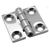"ATTWOOD STAINLESS STEEL BUTT HINGE- 1-1/2""L x 1-1/2""W, Uses # 10 Fasteners"