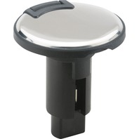 LIGHT ARMOR PLUG-IN BASE-2-Pin Base, Black Overmold Stainless Steel Cover