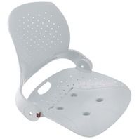 ATTWOOD VENTURE FOLDING FISHING SEAT SHELL-Seat Shell Only, White