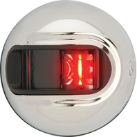LIGHT ARMOR VERTICAL SURFACE MOUNT NAVIGATION LIGHTS-2 NM Stainless Steel Side Light, Red
