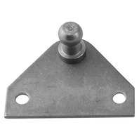 REPLACEMENT GAS SPRING MOUNTING BRACKET, STAINLESS STEEL-Flat Bracket, 2 Mounting Holes