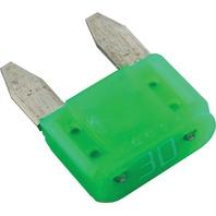 ATM MINI BLADE FUSES-ATM Fuse, 30 Amp, 2-Pack
