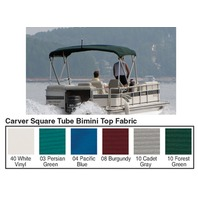 """4 BOW SQUARE TUBE PONTOON TOP FABRIC W/CUT-OUT 48""""H FRAME, SUNBRELLA Pacific Blue"""