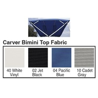 "4 BOW BIMINI TOP FABRIC W/BOOT FOR 54"" HIGH FRAME, SUNBRELLA  ACRYLIC-8' x 54"" x 79-84"", Pacific Blue"