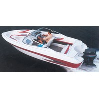 """V-HULL RUNABOUT BOAT COVER, WINDSHIELD AND HAND/BOW RAILS-19'6"""" x 96"""" Beam"""