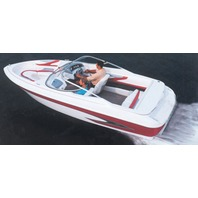 "V-HULL I/O RUNABOUT BOAT COVER, WINDSHIELD AND HAND/BOW RAILS-20'6"" x 102"" Beam"