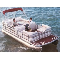 """PONTOON BOAT COVER, BIMINI TOP AND PARTIALLY ENCLOSED DECK-22'6"""" x 102"""" Beam"""
