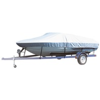 """CARVER FLEX-FIT BOAT COVER-Fish & Ski or Wide Bass 16-19', 96"""" Max. Beam"""