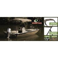 "3 BOW CAMO KNOCK-DOWN BIMINI TOP KIT W/BLACK FRAME & BOOT, 54"" High, 6 L x 54 H x 85-90 W, Mossy Oak  Shadow grass"