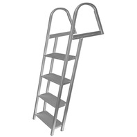 "PONTOON/DOCK LADDER WITH MOUNTING HARDWARE-4-Step, Overall Height: 61.75"" Width: 18"""