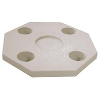 """JIF MARINE MOLDED TABLE TOP-Octagonal, Ivory, 20""""W"""