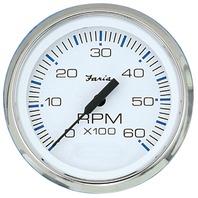 "CHESAPEAKE SERIES GAUGE, WHITE/SS-4"" Tachometer, 6K, Gas Inboard & I/O"