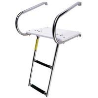 19546 Garelick I/O Boat Swim Platform w/2-Step Telescope Ladder