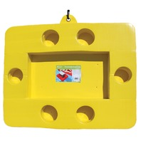 GAIL FORCE FLOATING CONNECTABLE COOLER TRAY-Yellow