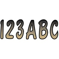 """FACTORY MATCHED REGISTRATION DECALS, SHADED-3"""" Shaded Decal Set Beige/Black"""