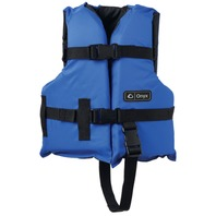 "ONYX NYLON GENERAL PURPOSE VEST-Child 20-25"", 30-50 lbs, Blue/Black Life Jacket"