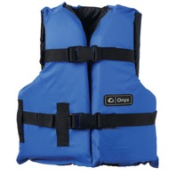 "ONYX NYLON GENERAL PURPOSE VEST-Youth 24-29"", 50-90 lbs, Blue/Black Life Jacket"