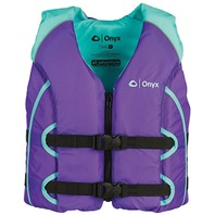 ALL-ADVENTURE YOUTH LIFE VEST-Youth 50-90 lbs, Purple/Aqua