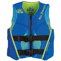 "FULL THROTTLE  YOUTH HINGED RAPID DRY FLEX-BACK LIFE VEST-24-29"", 50-90 lbs, Blue"