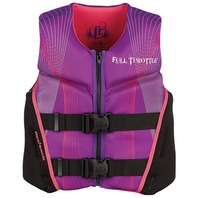 "Full Throttle Youth Rapid Dry Flex-Back Life Vest Jacket 24-29"" 50-90 lb Purple"