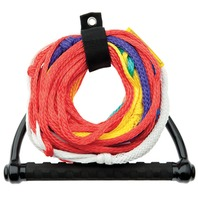 8-SECTION SKI ROPE WITH TEAM SINGLE HANDLE- w/Floating Team Handle, 75'