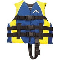 AIRHEAD CHILDREN'S NYLON VEST-Child LIfe Vest, Blue/Yellow 30-50lbs. 22-25""