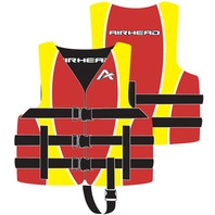 "AIRHEAD CHILDREN'S NYLON VEST-Child Vest Red/Yellow 30-50lbs. 22-25"" Life Jacket"