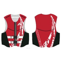 AIRHEAD SWOOSH NEOLITE SKI VEST, ADULT-Large NeoLite Vest, Red Life Jacket
