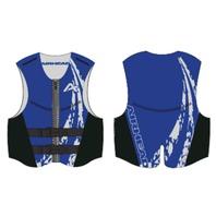 AIRHEAD SWOOSH NEOLITE SKI VEST, ADULT-XL NeoLite Vest, Blue Life Jacket