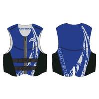 AIRHEAD SWOOSH NEOLITE SKI VEST, ADULT-2XL NeoLite Vest, Blue Life Jacket