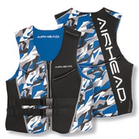 AIRHEAD CAMO COOL MEN'S NEOLITE SKI VEST-Large NeoLite Vest, Blue Camo