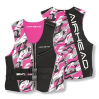 AIRHEAD CAMO COOL LADIES' NEOLITE SKI VEST-Large NeoLite Vest, Pink Camo