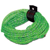 AIRHEAD 60' BLING TUBE ROPE- Green, 2-Rider, 2,375 lb.