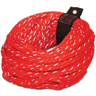 AIRHEAD 60 FT Bling Tube Rope, Red, 4-Rider, 4,100 lb.