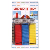 WRAP IT UP!  LINE ORGANIZER STRAPS-3-Pack, 1 Yellow, 1 Red, 1 Blue