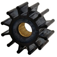 "JOHNSON PUMP REPLACEMENT IMPELLER, MC97-For F5 Pump, 12 Blade, 2.25""OD, 1.24""W"