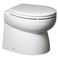 Johnson Pump Premium Low Profile Electric Flush Toilet, 12V
