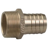 """PIPE TO HOSE ADAPTER, BRONZE, 1"""" Pipe to 1"""" Hose, 1-3/4"""" L"""
