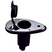 """REPLACEMENT POLE LIGHT BASE-2-Contact 5 Degree Base, 3-1/2""""L x 2""""W, SST"""
