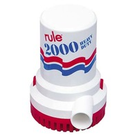 RULE SUBMERSIBLE PUMP 2000 GPH, Non-Automatic, 12V
