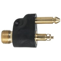 """SCEPTER FUEL LINE CONNECTOR, J/EVINRUDE/BRP-1/4"""" NPT Male Tank Fitting, Brass"""
