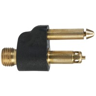 "SCEPTER FUEL LINE CONNECTOR, MERCURY-1/4"" NPT Male Tank Fitting, Brass, 1998 & Newer"