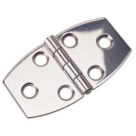 "STAINLESS STEEL DOOR HINGE-2-3/4"" x 1-1/2"", Pair, Uses #6 Fasteners"