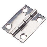 "STAINLESS STEEL BUTT HINGE, SMALL-1-1/4"" x 1-1/2"" Pair, Uses #6 Fasteners"