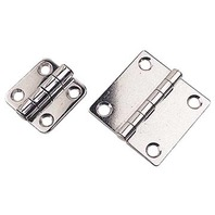 "BUTT HINGE, STAINLESS STEEL-1-1/2"" x 1-3/8"", Pair, Uses #8 Fasteners"