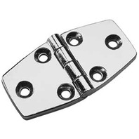 "DOOR HINGE, CHROME-1-1/2"" x 2-7/8"" Pair, Uses #8 Fasteners"