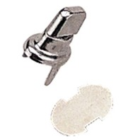 CANVAS SNAP AND STUD  FASTENERS-Snap Turn Buckle & Backplate Set, 2-prong Clinch, 2 Pair (4 pcs)