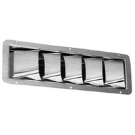 Stainless Steel Slotted Ventilator - 5 Louvers
